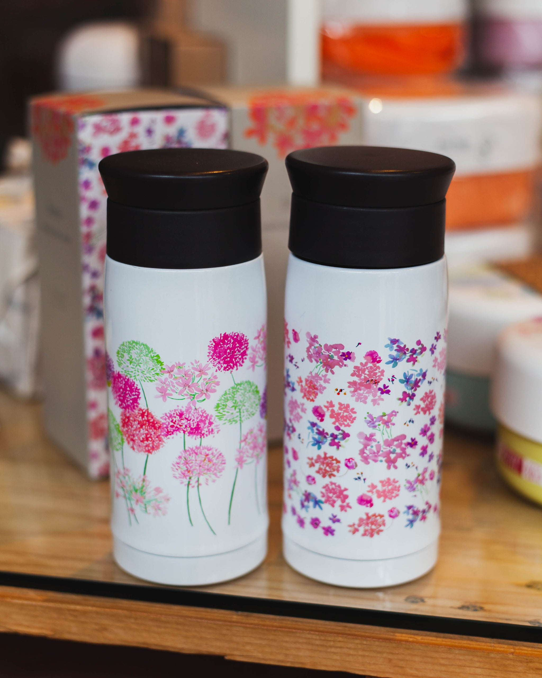 Spring Bouquet Stainless Steel Bottle | Rhododendron by Takenaka - Bento&co Japanese Bento Lunch Boxes and Kitchenware Specialists