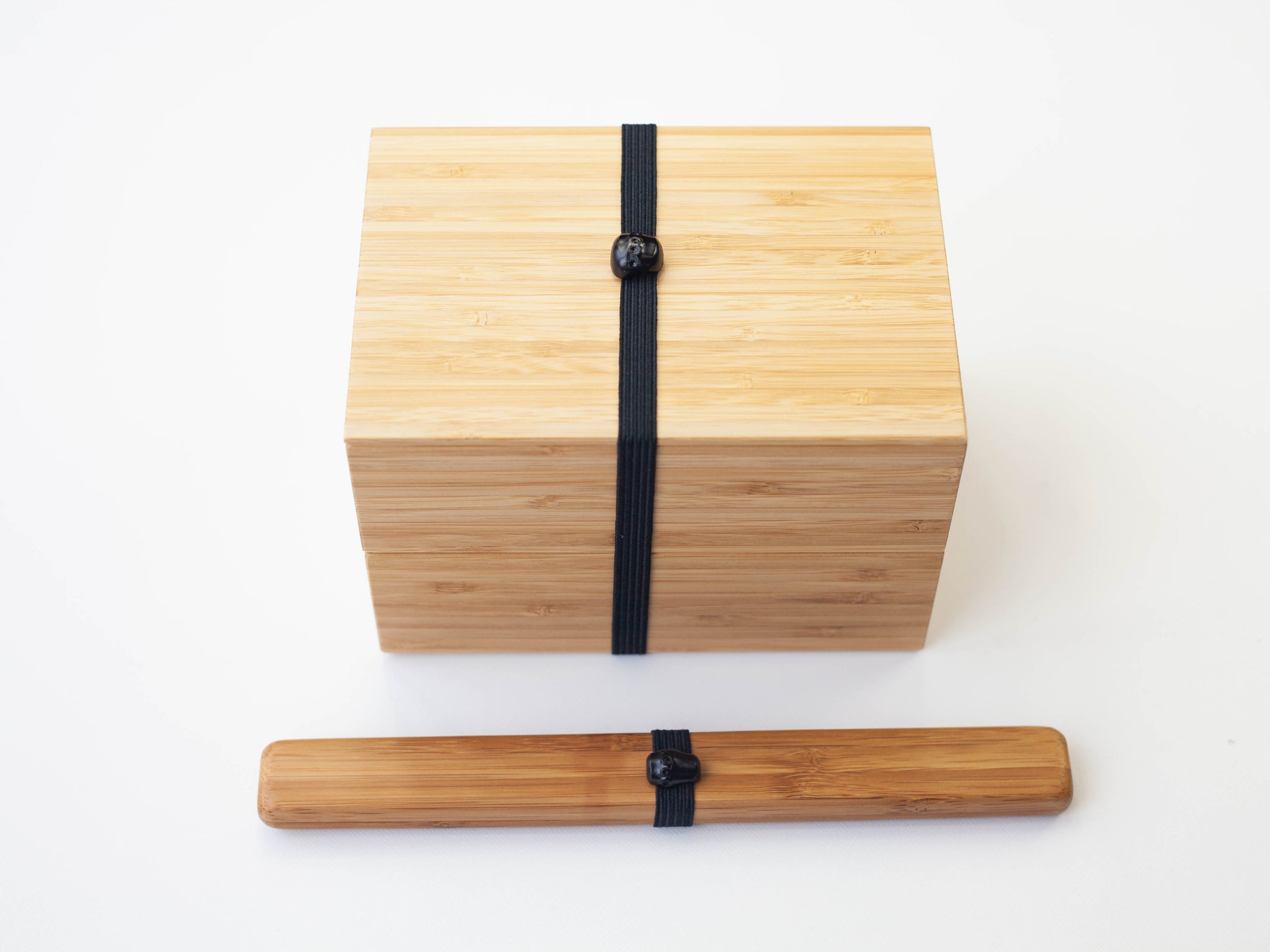 Handmade Take Bako Bento Box | Black Band - Bento&co