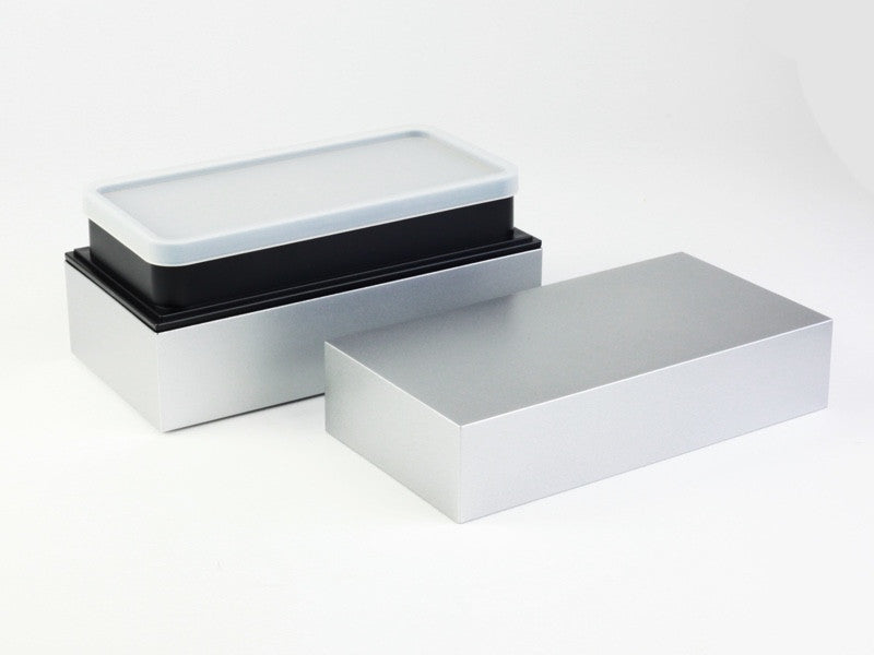 Takenaka Long Bento Box | Silver by Takenaka - Bento&co Japanese Bento Lunch Boxes and Kitchenware Specialists