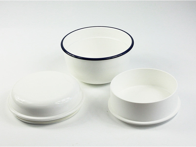 Takenaka Retro Moda Lunch Bowl | White & Navy by Takenaka - Bento&co Japanese Bento Lunch Boxes and Kitchenware Specialists