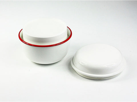Takenaka Retro Moda Lunch Bowl | White & Red