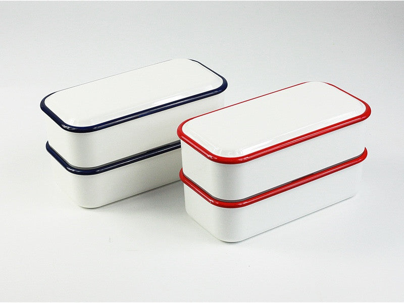 Takenaka Retro Moda Lunch Box | White & Red by Takenaka - Bento&co Japanese Bento Lunch Boxes and Kitchenware Specialists