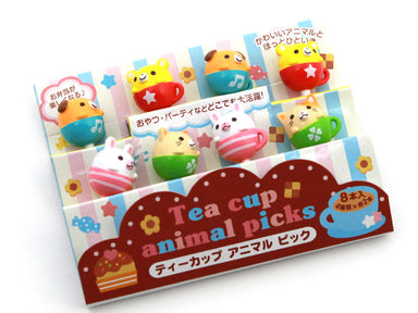 Tea Cup Animal Picks by Torune - Bento&co Japanese Bento Lunch Boxes and Kitchenware Specialists