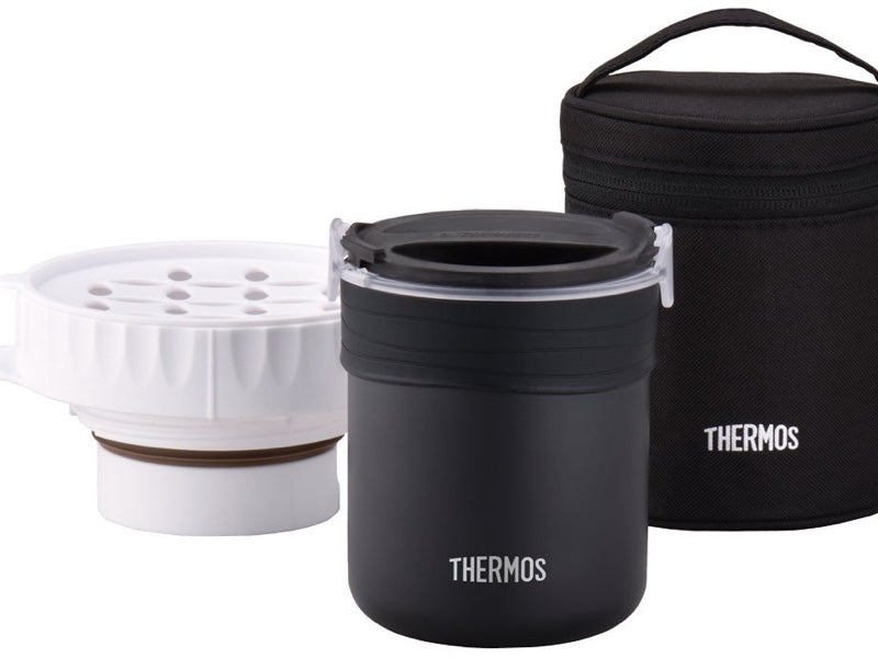 Thermos Rice Ready Jar | Black by Bento&co | AMZJP - Bento&co Japanese Bento Lunch Boxes and Kitchenware Specialists