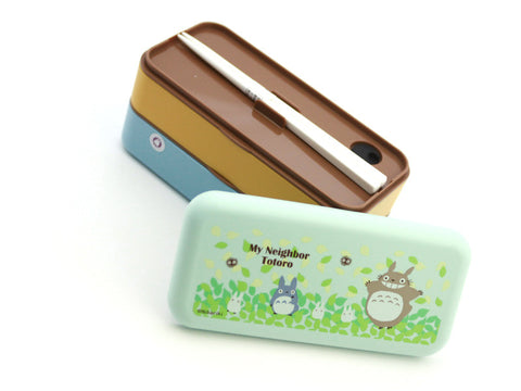 Totoro Bento 600 & Chopsticks by Skater - Bento&co Japanese Bento Lunch Boxes and Kitchenware Specialists