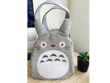 Totoro Bento Bag | Mascot Grey by Skater - Bento&co Japanese Bento Lunch Boxes and Kitchenware Specialists
