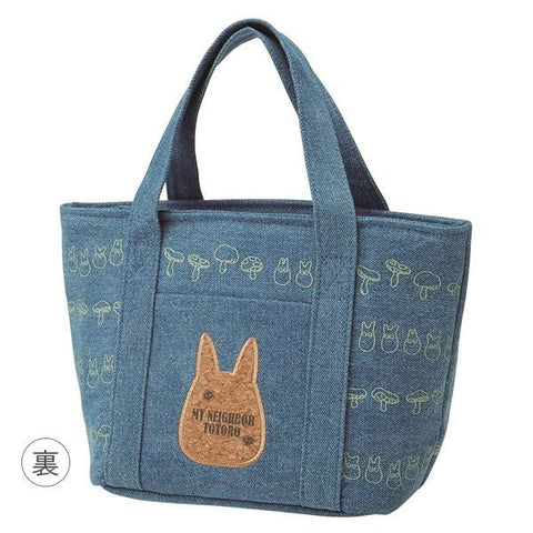 Totoro Tote Bag Light Denim x Cork