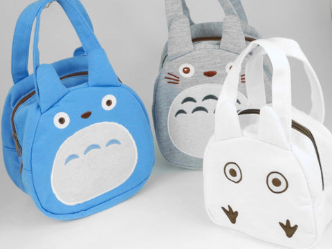 Totoro Bento Bag | Chibi White by Skater - Bento&co Japanese Bento Lunch Boxes and Kitchenware Specialists