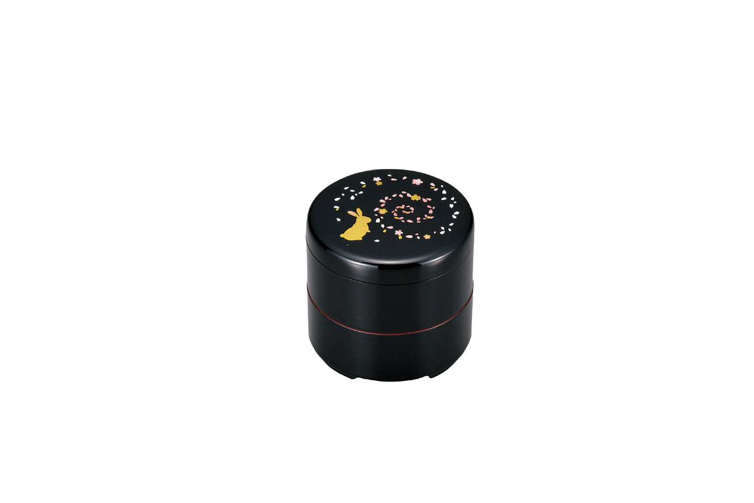 Usagi Round Bento Small | Black by Hakoya - Bento&co Japanese Bento Lunch Boxes and Kitchenware Specialists