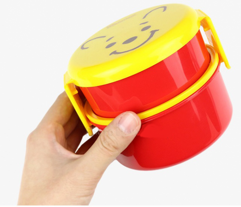 Winnie the Pooh Round Two Tier Lunch Bowl