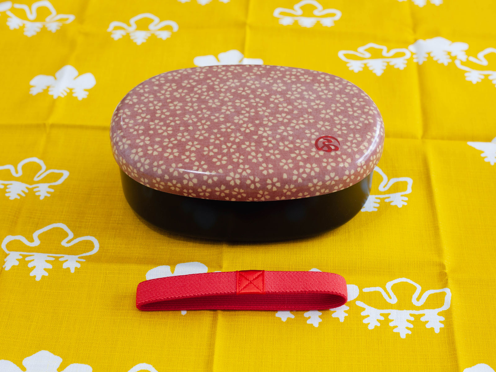 Wafu Cloth Round Bento Box | Sakura Blossom by Hakoya - Bento&co Japanese Bento Lunch Boxes and Kitchenware Specialists