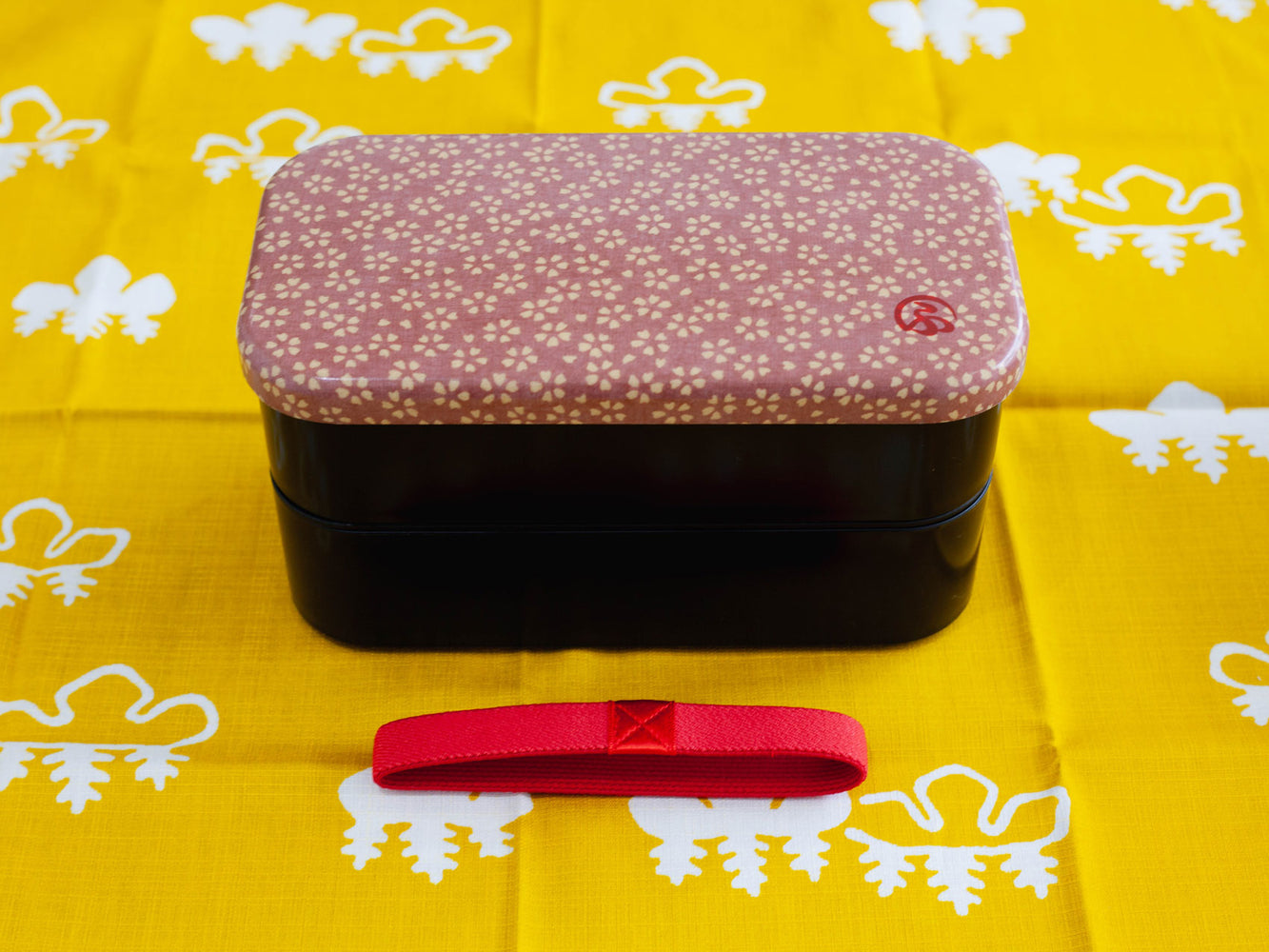Wafu Cloth Rectangle Bento Box Large | Sakura Blossom