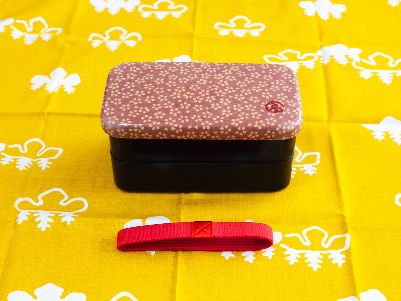 Wafu Cloth Rectangle Bento Box Small | Sakura Blossom