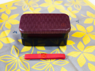 Wafu Cloth Rectangle Bento Box Small | Arrow by Hakoya - Bento&co Japanese Bento Lunch Boxes and Kitchenware Specialists