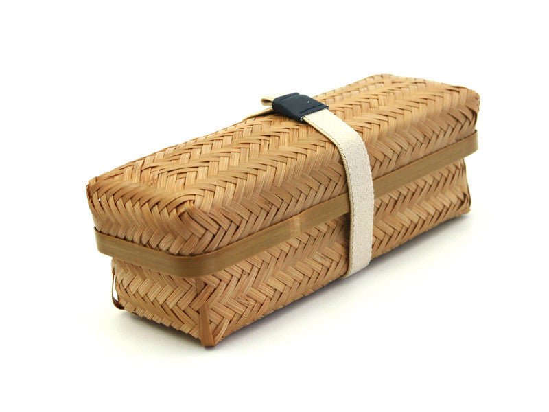 Weaved Bamboo Bento Box | Long by Yamaki - Bento&co Japanese Bento Lunch Boxes and Kitchenware Specialists