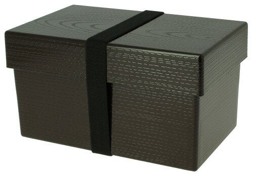 Yamato Mokume Opaque Square Bento Box Brown by Hakoya - Bento&co Japanese Bento Lunch Boxes and Kitchenware Specialists