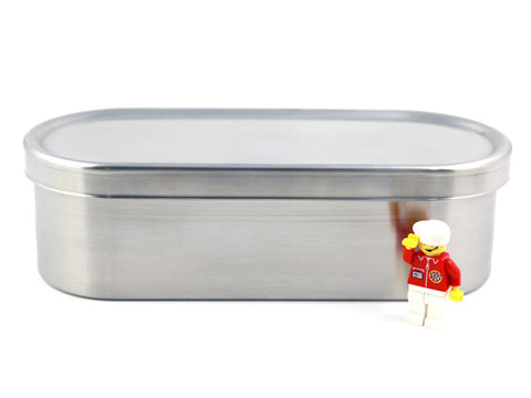 Japanese lunch long bento box stainless steel size