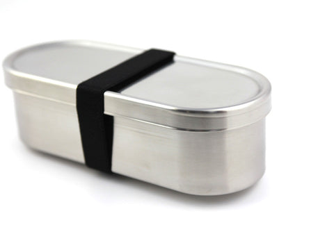 Japanese lunch long bento box stainless steel rubber band