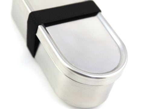 Japanese lunch long bento box stainless steel closed