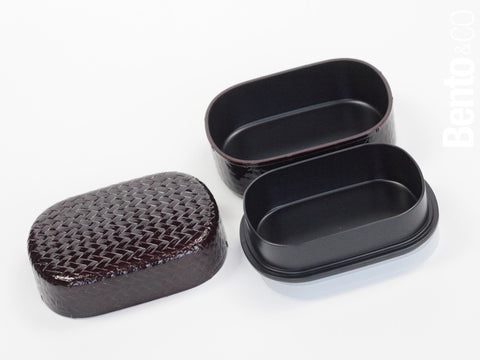 Ajiro Maru Oval Bento Box by Hakoya - Bento&co Japanese Bento Lunch Boxes and Kitchenware Specialists