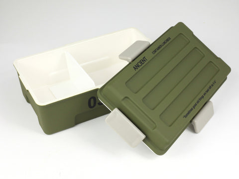 Ancient Container Lunch Box | Army Green by Showa - Bento&con the Bento Boxes specialist from Kyoto