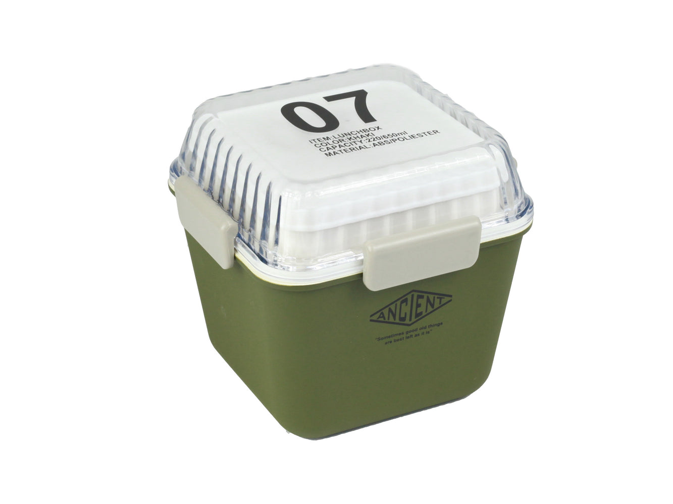 Ancient Tall Lunch Box | Army Green by Showa - Bento&con the Bento Boxes specialist from Kyoto