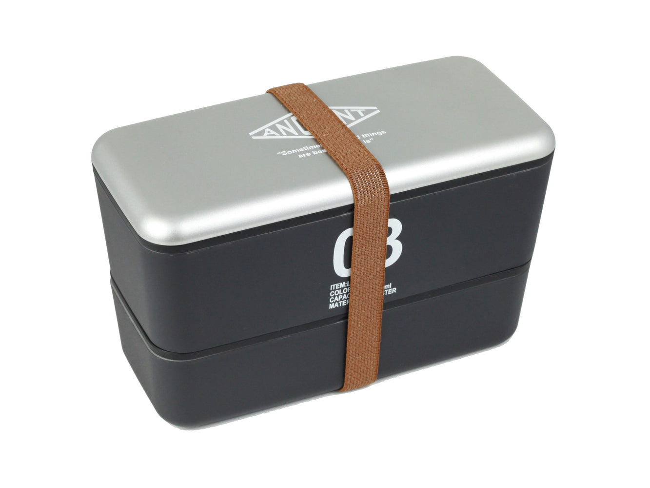 Ancient Bento Box | Black by Showa - Bento&con the Bento Boxes specialist from Kyoto