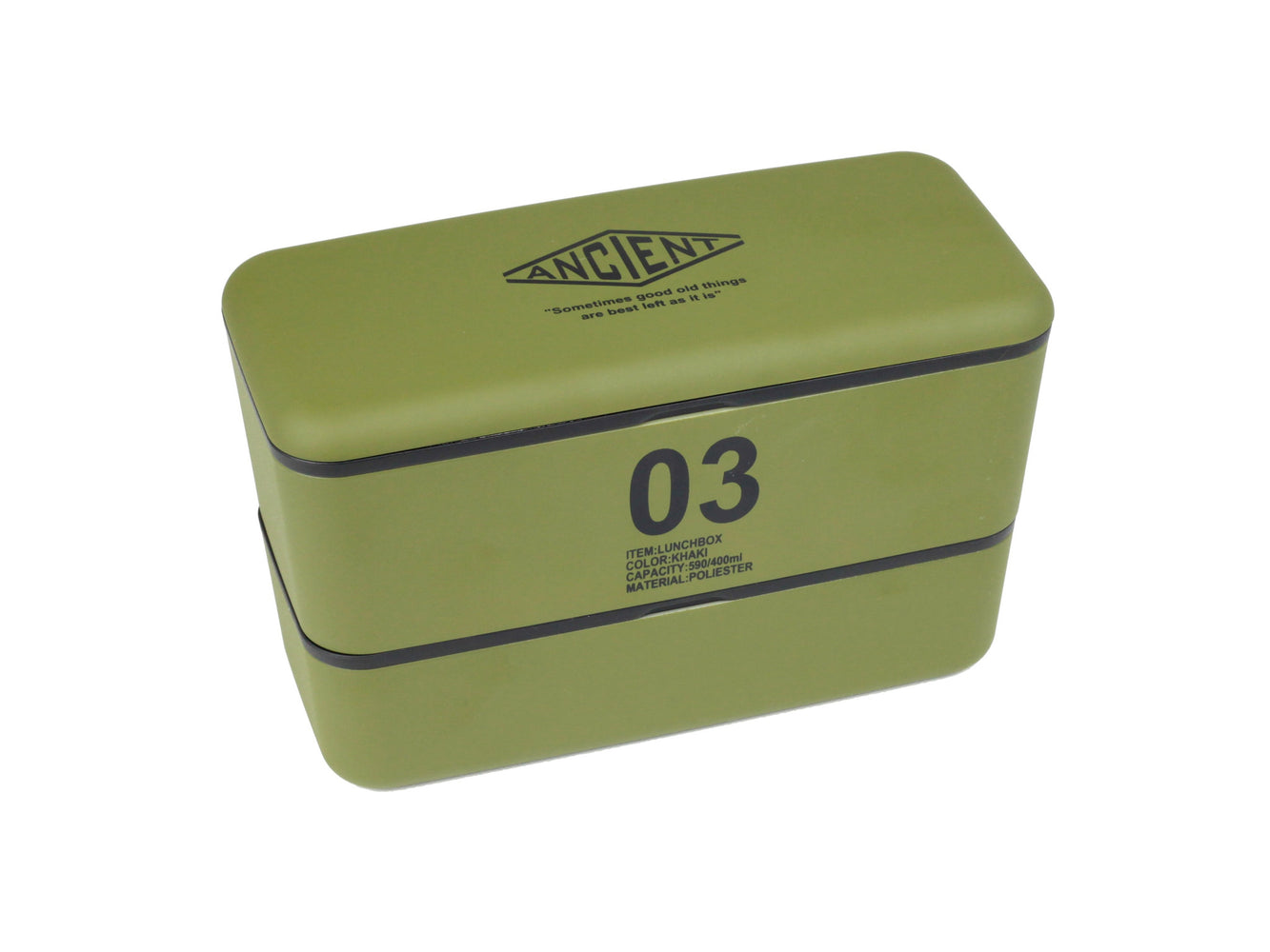 Ancient Bento Box | Army Green by Showa - Bento&con the Bento Boxes specialist from Kyoto