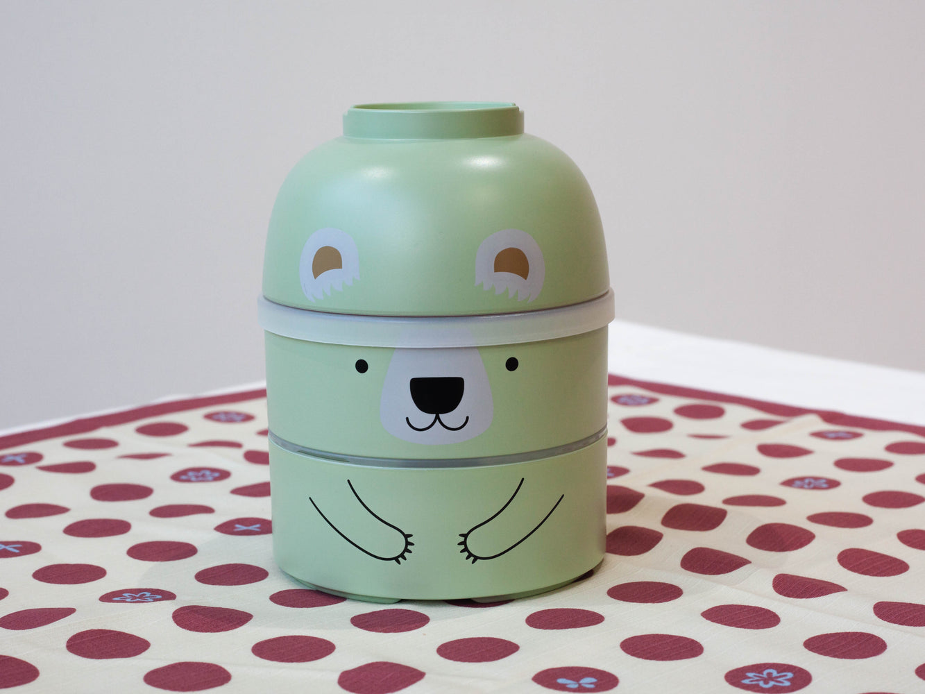 Big Kokeshi Kuma Bento | Green by Hakoya - Bento&con the Bento Boxes specialist from Kyoto
