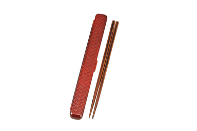 Ajiro Rectangle Chopsticks Set Large | Light Brown by Hakoya - Bento&co Japanese Bento Lunch Boxes and Kitchenware Specialists