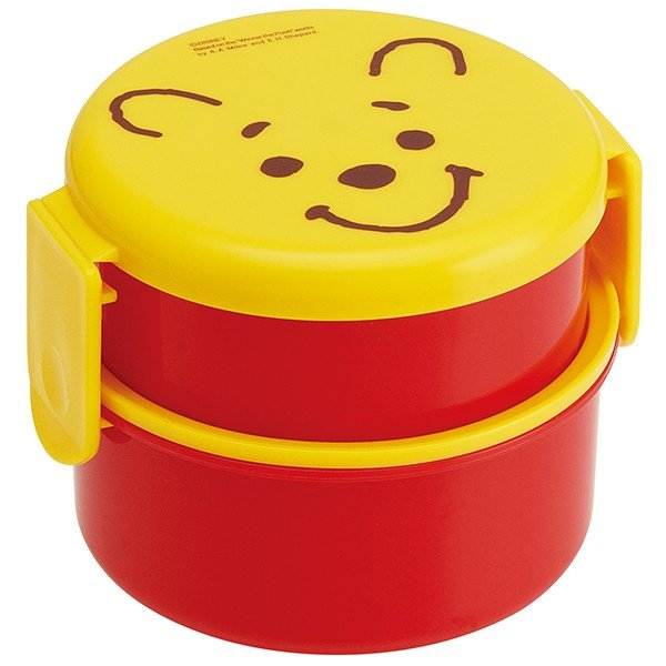 Winnie the Pooh Round Two Tier Lunch Bowl by Skater - Bento&co Japanese Bento Lunch Boxes and Kitchenware Specialists