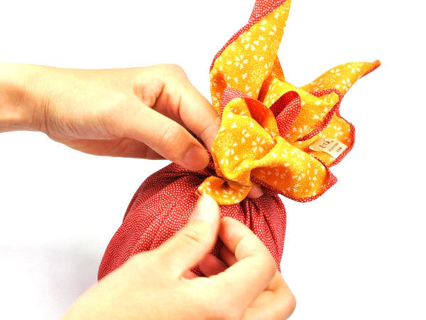 Furoshiki Same Sakura 45cm Red-Yellow by Yamada Seni - Bento&co Japanese Bento Lunch Boxes and Kitchenware Specialists