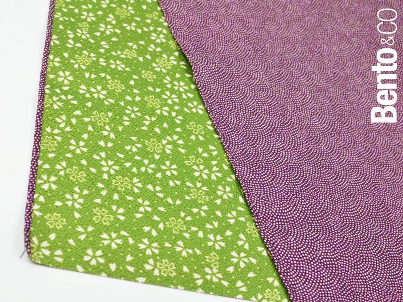 Furoshiki Same Sakura 45cm Purple-Green by Yamada Seni - Bento&con the Bento Boxes specialist from Kyoto