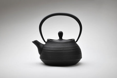 Enamel Brush Marks Teapot | Black