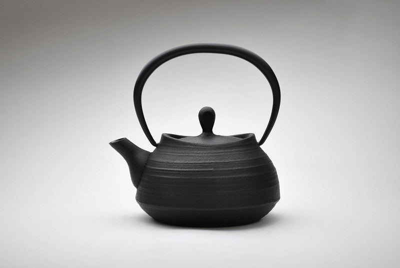Enamel Brush Marks Teapot | Black by Shoendo - Bento&co Japanese Bento Lunch Boxes and Kitchenware Specialists