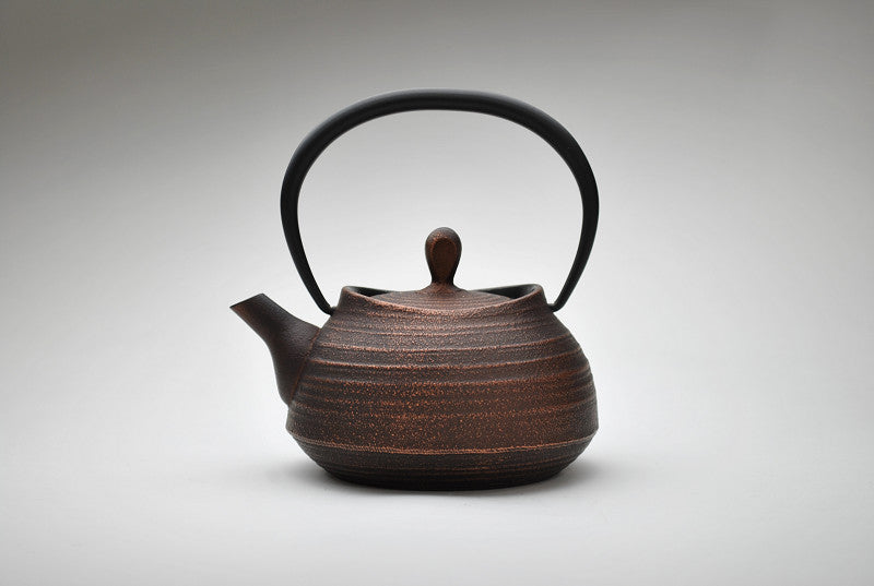 Enamel Brush Marks Teapot | Burnished Copper by Shoendo - Bento&co Japanese Bento Lunch Boxes and Kitchenware Specialists