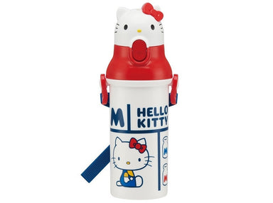 Hello Kitty Die Cut Push Bottle by Skater - Bento&co Japanese Bento Lunch Boxes and Kitchenware Specialists