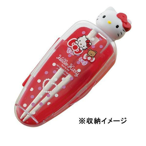 Hello Kitty Deluxe Training Chopsticks w/ Case by Skater - Bento&con the Bento Boxes specialist from Kyoto