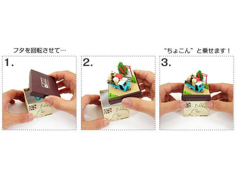 Miniatuart | Sen and Chihiro's Spiriting Away : in the train by Sankei - Bento&con the Bento Boxes specialist from Kyoto