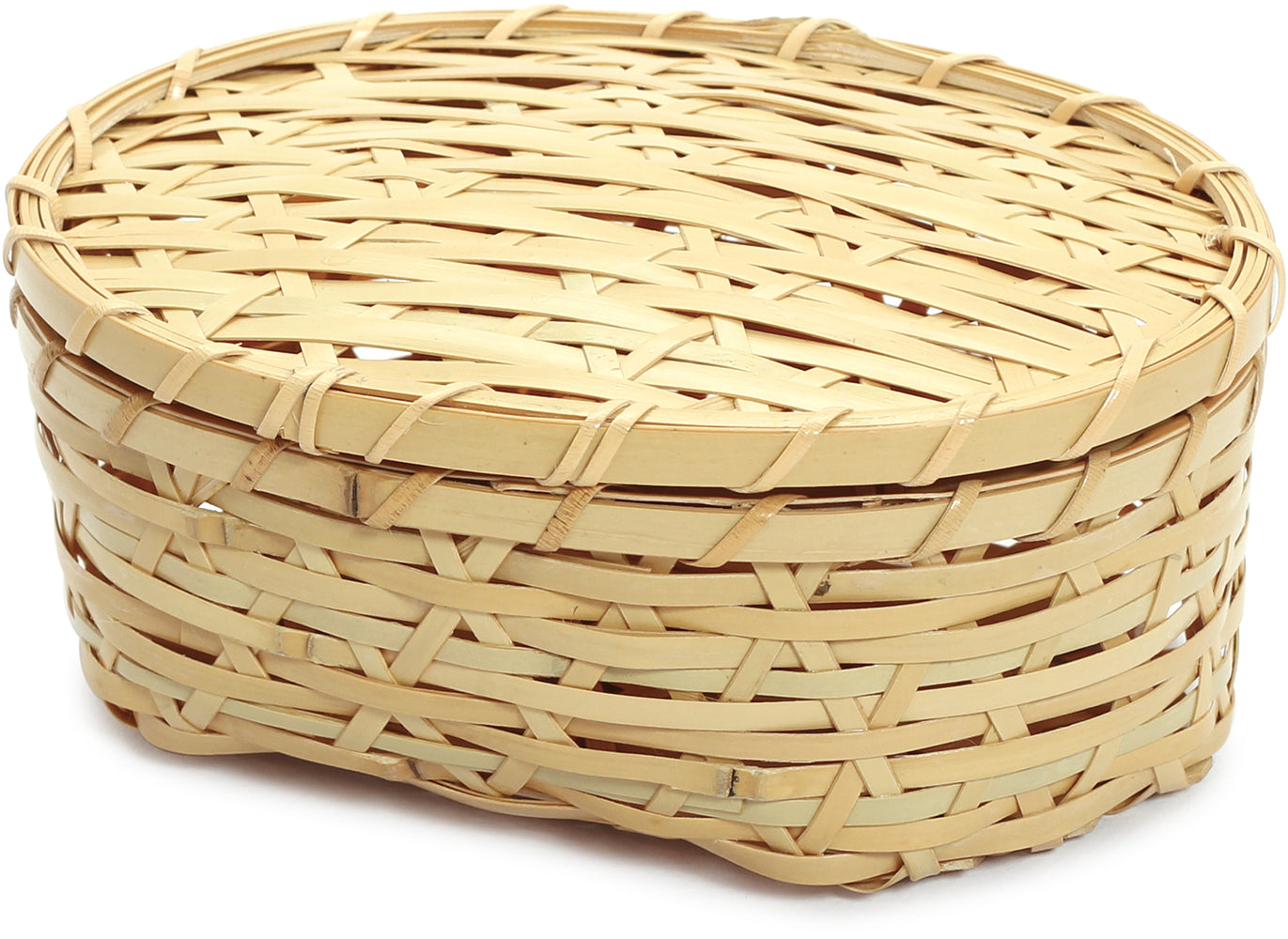 Weaved Bamboo Bento Box Oval | Large by Yamaki - Bento&co Japanese Bento Lunch Boxes and Kitchenware Specialists