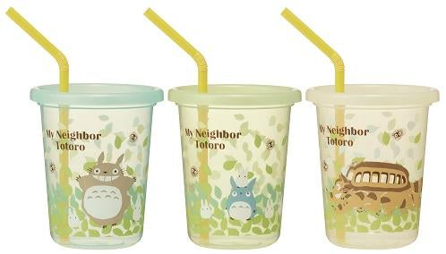Totoro Straw Tumbler | Set of 3 by Skater - Bento&co Japanese Bento Lunch Boxes and Kitchenware Specialists