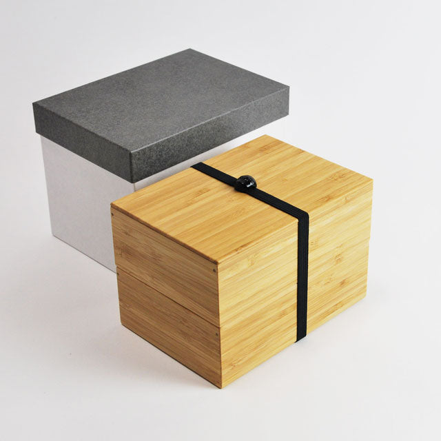 Handmade Take Bako Bento Box | Black Band by Kohchosai Kosuga - Bento&co Japanese Bento Lunch Boxes and Kitchenware Specialists