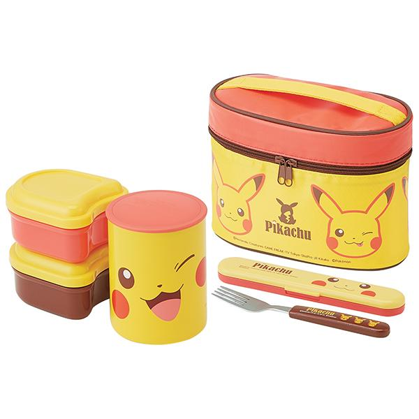 Pokemon Pikachu Face Thermal Lunch Set by Skater - Bento&co Japanese Bento Lunch Boxes and Kitchenware Specialists
