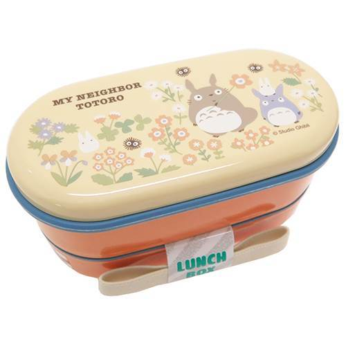 Totoro Flower Orange Oval Bento Box