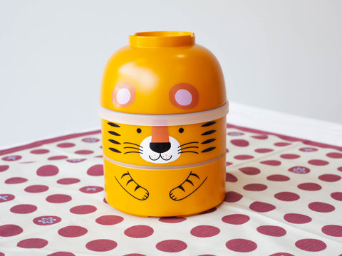 Big Kokeshi Tora Bento | Yellow by Hakoya - Bento&co Japanese Bento Lunch Boxes and Kitchenware Specialists