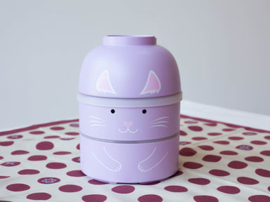 Big Kokeshi Neko Bento | Purple by Hakoya - Bento&co Japanese Bento Lunch Boxes and Kitchenware Specialists
