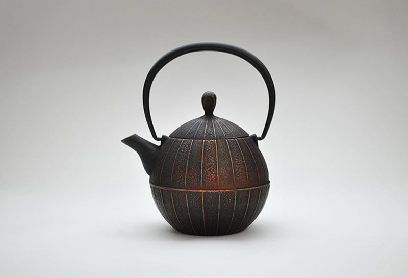 Enamel Kurumi Teapot | Burnished Copper by Shoendo - Bento&co Japanese Bento Lunch Boxes and Kitchenware Specialists