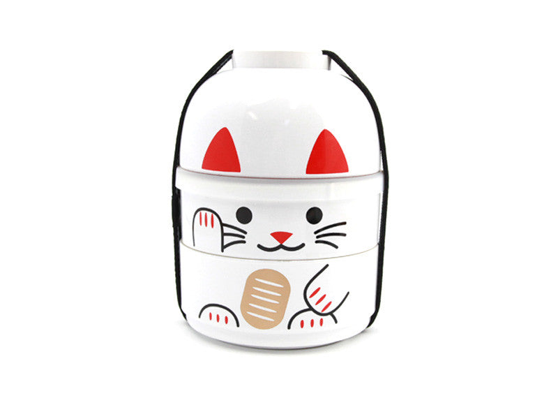 Kokeshi Bento Maneki-Neko White by Hakoya - Bento&co Japanese Bento Lunch Boxes and Kitchenware Specialists
