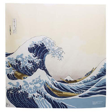 Large Hokusai Ukiyo-e Furoshiki | The Great Wave off Kanagawa by Yamada Seni - Bento&co Japanese Bento Lunch Boxes and Kitchenware Specialists
