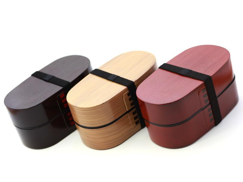 Nuri Wappa Wood Tone Bento Box | Dark Wood by Hakoya - Bento&co Japanese Bento Lunch Boxes and Kitchenware Specialists